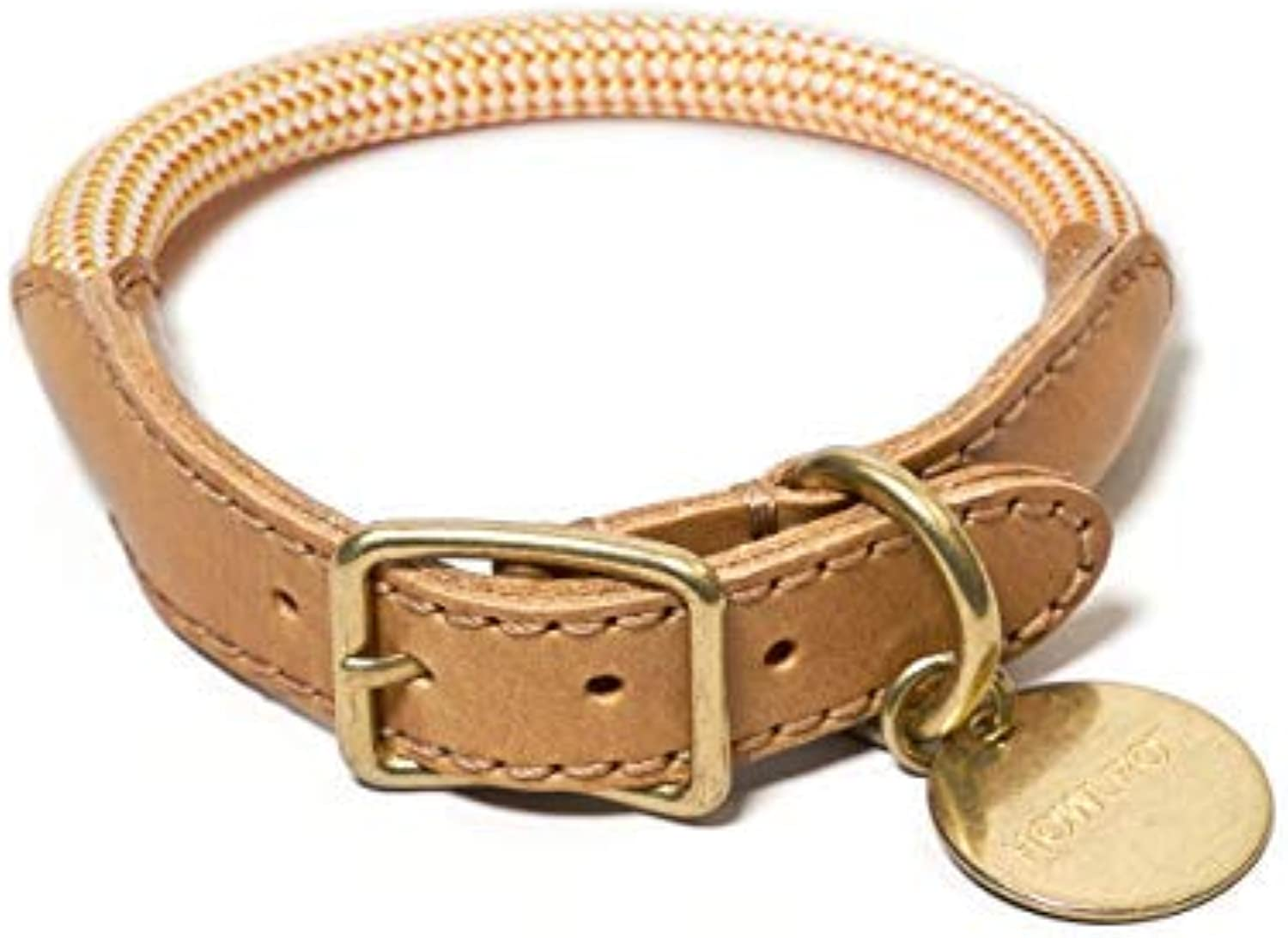 HOWLPOT. We are Tight Dog Collar Made with Genuine Buttero Leather & Mountain Climbing Rope