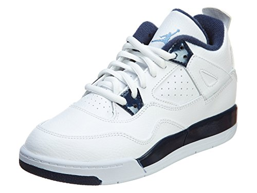 Nike Jungen Jordan 4 Retro LS BP Fitnessschuhe, Weiß/Blau (White Legend Blue Mdnght Navy), 30 EU
