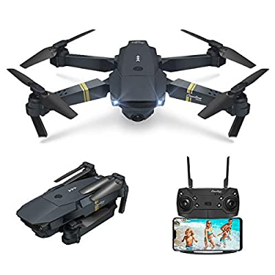 EACHINE Drone with Camera for Adults, E58 Drone with Camera for Kids Beginners, FPV, WIFI, APP Control, Altitude Hold