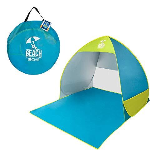 AKTIVE 62165 - Tienda de playa pop up azul y verde AKTIVE beach
