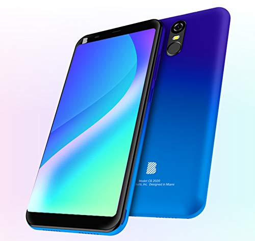 BLU C6 2020 Unlocked 6.0'' Display Dual SIM Android GSM Smartphone (Blue)