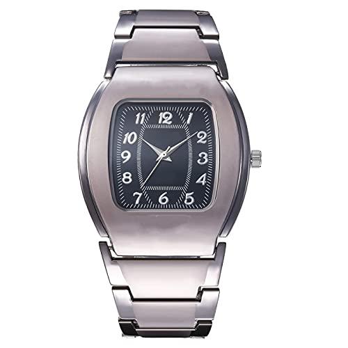 SIMEISM Los hombres de la manera grande Dial barril cuadrado negocio casual lujo cuarzo reloj hombres amantes relojes relojes