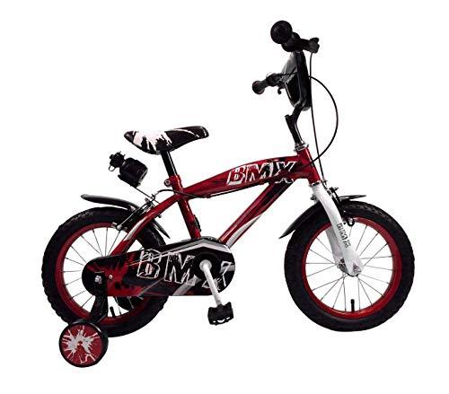 Mediawave Store Bicicletta BMX Baby Taglia 14 Bici per Bambini 510187 età 3-6 Anni (Rosso)