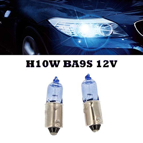 2x H10W BLUE VISION BA9s 12V 10W JURMANNLAMPEN FALTSCHACHTEL SUPER WHITE