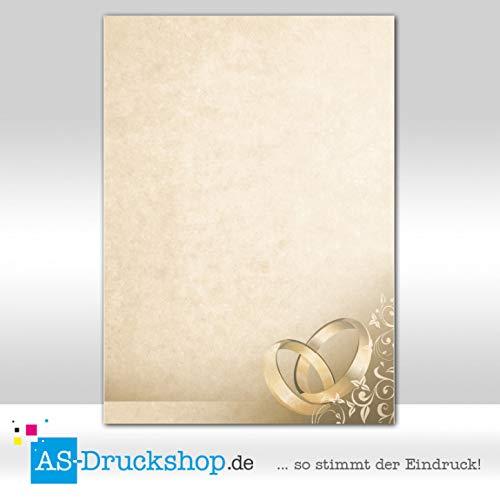 Designpapier liefde - bruin marmer met ringen / 100 vellen/DIN A5 / 90 g offsetpapier