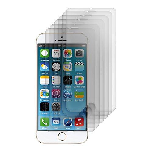 kwmobile 6X Folie matt für Apple iPhone 6 / 6S / 7/8 Bildschirmschutzfolie Schutzfolie Bildschirmschutz Anti-Fingerabdruck Bildschirmfolie entspiegelt (Kleiner als das Bildschirm, da Dieses gewölbt ist)