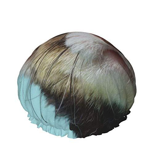 Gorro de ducha para mujer, hurón alfabético, reutilizable, pelo largo, pelo grueso, impermeable, gorro de baño
