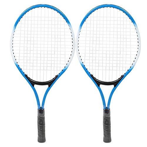 Caiqinlen Raqueta De Tenis, Raqueta De Tenis para Niños 30-35 LBS con Bolsa De Transporte De Pelota para Principiantes para Niños(Azul)