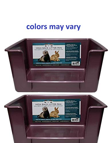 Marshall High Back Ferret Litter Pan (Set of 2 Pans. Colors May Vary)