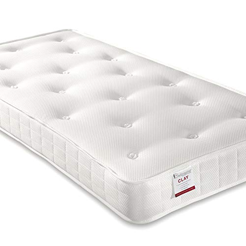 Orthopaedic Open Coil Sprung, Happy Beds Clay Medium Tension Mattress Fillings - 4ft Small Double (120 x 190 cm)