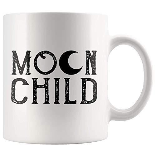 N\A Taza Infantil de Luna para Hippie Gitano Amante corazón de Hippie Taza de café Regalo Alma de un Gitano espíritu Libre Taza de té 11 oz