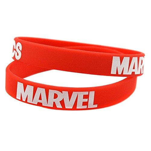 North King Marvel Comic Silicona Pulsera Pulsera Correa película Super héroe con Logos de Marvel en él