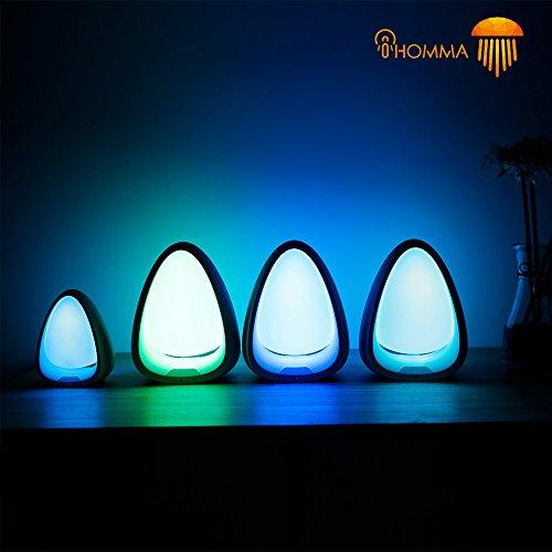 iHomma Smart Night Light, Touch-Control, RGB, Pearl Lamp, LED, Blanc, Portable à côté de la Lampe, USB Power Interface [Classe énergétique A] (PS01)