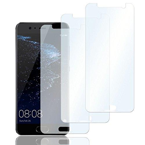 Eximmobile 3X Schutzfolien für Huawei P8 Lite (2017) Folie | Bildschirmschutzfolie | Bildschirmfolie Schutzfolie | selbstklebend | transparent | blasenfrei | kein Glas | Flexible Folien