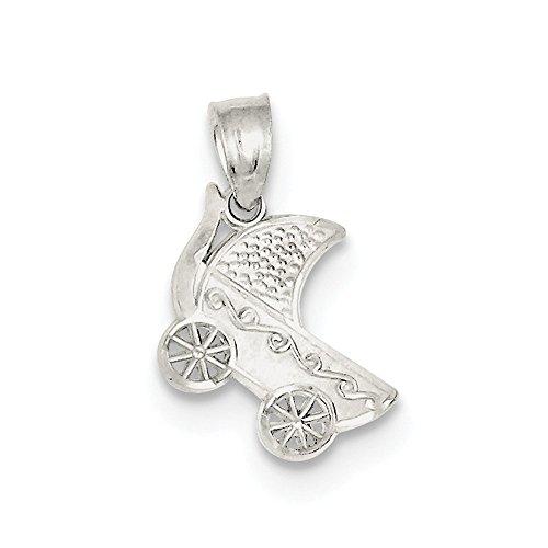 Collar con colgante de plata de ley 925 de satén sólido para bebé, regalo de joyería para mujeres