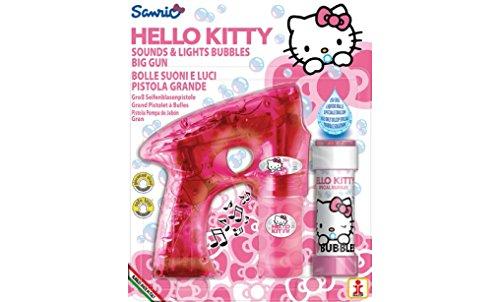 Mgm - 047161 - Blister Pistolet - Grand Modèle Bulles 60 Ml - Hello Kitty Avec Son Et Lumière