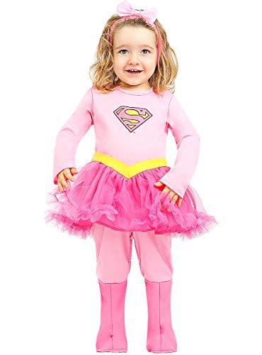 Funidelia   Disfraz de Supergirl Oficial para beb Talla 6-12 Meses Kara Zor-El, Superhroes, DC Comics - Multicolor