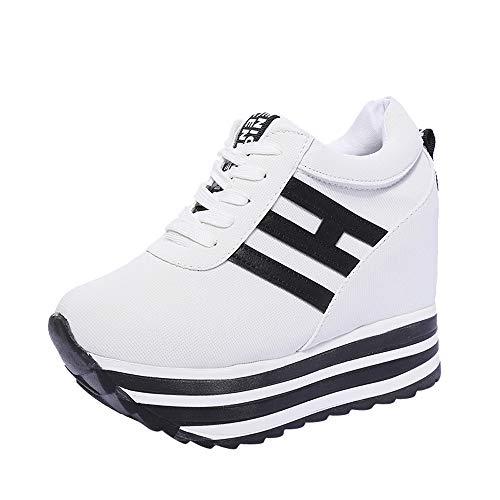 Shoes Mujer Otoño invierno ZARLLE Zapatos Deportivos Zapatillas de Deporte Zapatos Corrientes de Las Mujeres Zapatos plataforma gruesa de fondo Zapatos interiores