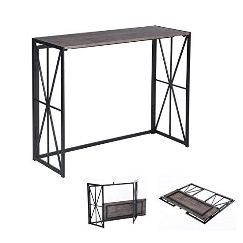 MEUBLE COSY Table Console Table d'appoint Table d'Entrée Bureau Informatique pour Ordinateur, structure en métal 100x38x80cm , /100x38x80cm