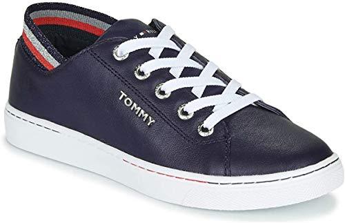 Tommy Hilfiger Damen Glitter Detail City Sneaker, Blau (Desert Sky Dw5), 38 EU