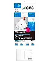 エーワン CD/DVDラベルシール 内径小 10枚 29163 + 画材屋ドットコム ポストカードA