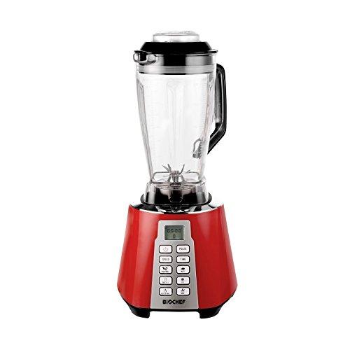 Bio Chef Nova – Batidora de Vaso | Blender | Batidora Americana de Vaso | 1600W | 28.000RPM | BPA Free | 6 Programas (Rojo)
