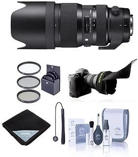 Adorama Sigma 50-100mm f/1.8 DC HSM Art Lens for Nikon Cameras - Bundle with 82mm Filter Kit, Flex Lens Shade, Lens Wrap (19x19), Cleaning Kit, Cap Leash