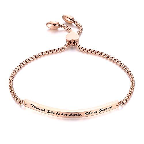 Europa en de Verenigde Staten Populaire Armband Letter Bend Ingress Titanium Rose Gold Armband Verstelbare Armband