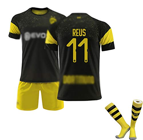 DDSC 19-20# 10 M.Gotze # 11 Reus # 22 PULISIC Kinder Fußball Trikot Weste T-Shirt Trainingskleidung Herren Boutique Polo Shirt-Top Hemd Yellow Black(#11)-18