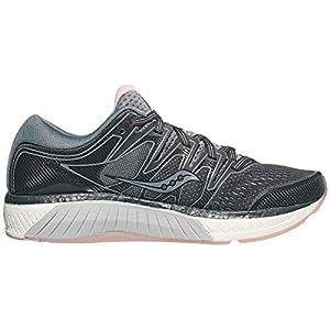 Saucony Women's S10460-2 Hurricane ISO 5 Running Shoe, Steel/Black - 5 M US
