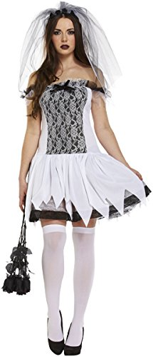 NEW HALLOWEEN ADULT SEXY TEEN BRIDE CORPSE BRIDE FANCYDRESS COSTUME OUTFIT (disfraz)