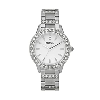 Fossil Women's Jesse Quartz Stainless Three-Hand Watch, Color: Silver (Model: ES2362)