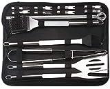 JJZXPJ Juego de 15 herramientas de barbacoa de acero inoxidable para barbacoa en bolsa de transporte, utensilios de barbacoa para acampar y picnic familiar (tamaño : juego de 20 piezas)