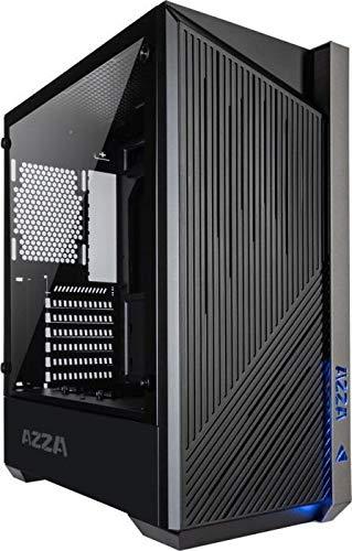 AZZA Raven ATX Mid Tower Boîtier Gaming avec Ventilateur ARGB Black