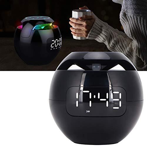 KUIDAMOS Altavoz Bluetooth Colorido, Altavoz Bluetooth con Forma de Bola LED, luz Nocturna Recargable con Pantalla de Reloj para decoración del hogar para Interiores y Exteriores