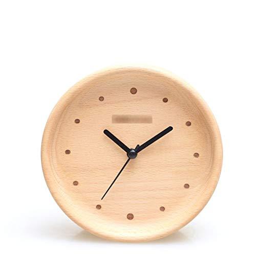 Huoqiin Origineel design wekker Nordic hout eenvoudige moderne houten klok kinderen stille creatieve student nachtkastje origineel ontwerp geïmporteerde elm stille beweging eenvoudige natuurlijke