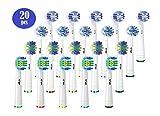 KAV Plus Compatible Oral B Lot de 20 têtes de brosse à dents électrique avec Pro...