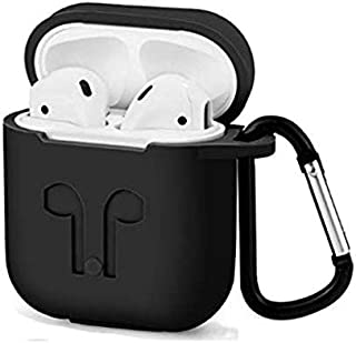 Airpods bluetooth Earphone Silicone Case Cover Anti-shock Protector with portable hook for Iphone Air pods headphones
