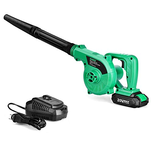 K I M O. Cordless Leaf Blower - 20V 2.0 Ah Lithium Battery 2in1 Sweeper/Vacuum for Blowing Leaf, Clearing Dust & Small Trash,Car, Computer Host, Hard to Clean Corner