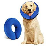 Protective Inflatable Collar, Inflatable Soft Cone for Dogs...