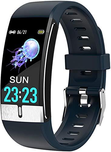 Fitness Actividad Tracker Reloj Inteligente Podómetro Frecuencia Cardíaca Monitor de Presión Arterial Deportes Bluetooth Smartwatch Impermeable Relojes-Azul