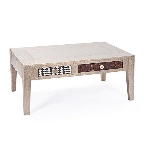 Paris Prix - Table Basse Design Bois Massif Aztek 110cm Gris