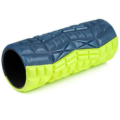 Sport-Thieme Faszienrolle Duo | Innovativer Faszientrainer mit Zwei Stärken pro Rolle | Selbstmassage von Rücken u. Nacken | L: 32,5 cm | ø 13cm | ABS/Eva-Schaum | Hellgrün-Dunkelblau