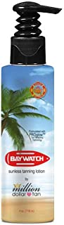 Get Ready For Your Close Up With Baywatch Sunless Tanning Lotion by Million Dollar Tan, 4 oz