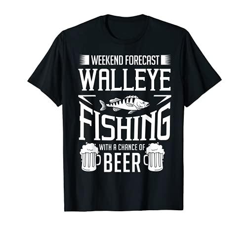 Walleye Señuelo de pesca regalo Walleye pescado cerveza Camiseta