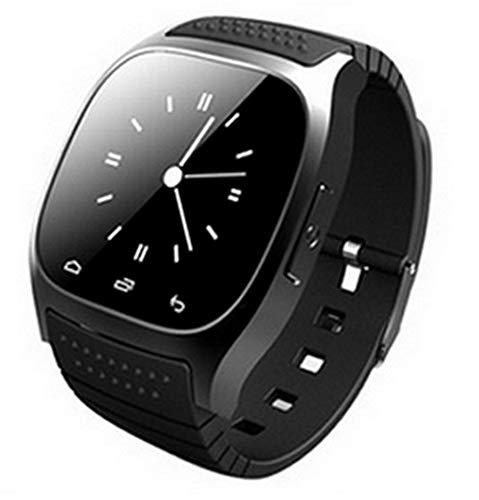ELEGENCE-Z Smart Watch, M26 Bluetooth LED Light Display con quadrante/Chiama Risposta/SMS Reminding/Music Player/Anti-Perso/Passometer/Termometro per Android (Nero)