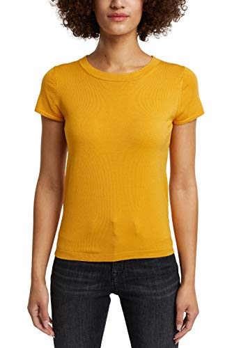 ESPRIT Collection Damen 990EO1I305 Pullover, Gelb (710/Honey Yellow), L