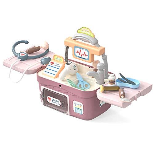TWW Maleta Mdica Multifuncional para Nios, Doctor, Enfermera, Doctor, Jugar A La Casa, Juguete, Nio, Nia, Simulacin, Juguete De Simulacin Mdica