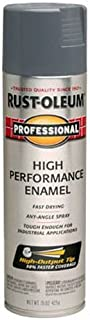 Rust-Oleum 7587838 Professional High Performance Enamel Spray Paint, 15 oz, Dark Machine Gray