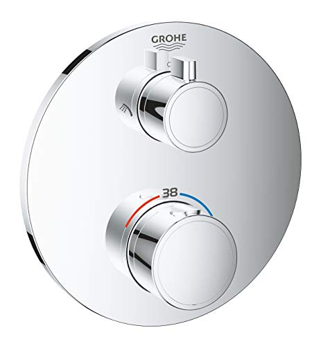 GROHE 24075000 thermostaat douche-accu, chroom Thermostaat-douche-accu. mit Umstellung Rond design.
